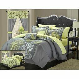 Chic Home Olivia 20 Piece Paisley Print Reversible Comforter