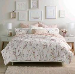 LC Lauren Conrad Origami 3 PC Comforter Set Full / Queen Flo