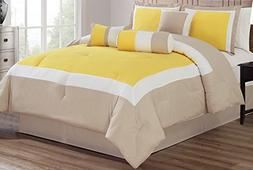 7 Piece Oversize SUNSHINE YELLOW / LIGHT GREY / WHITE Color
