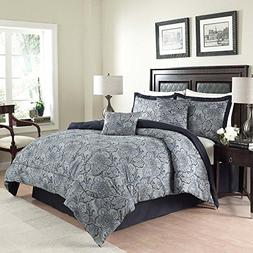 Traditions by Waverly 6-Piece Paddock Shawl Comforter Set, Q