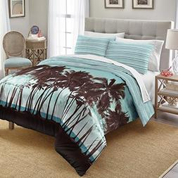 Destinations Palm Tree Sunset Cotton Comforter Set, Full Que