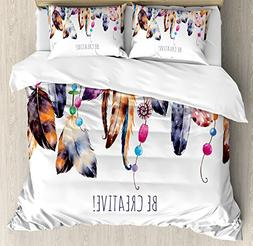 Pearls Decoration Duvet Cover Set by Ambesonne, Be Creative