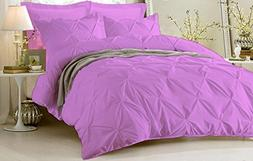 Pinch Pleated Duvet Cover With Zipper & Corner Ties 100% Egy