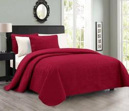 Pinsonic Quilted Austin Oversize Bedspread Coverlet 3-piece