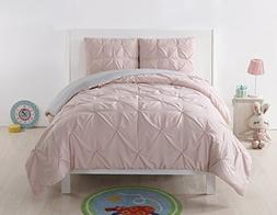 Laura Hart Kids Pleated Reversible Comforter Set, Full/Queen