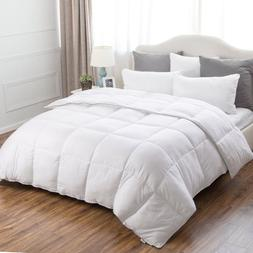 Bedsure Plush Down Alternative Comforter Box Quilted Reversi