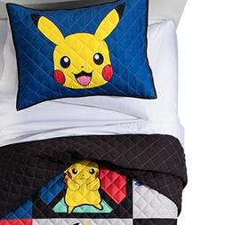 Pokemon Quilt and Sham Set: Full/Queen