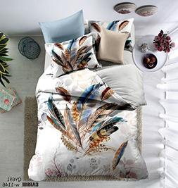 Prom Bedding Polyester Microfiber Fancy 3PC 3d Feathers Prin