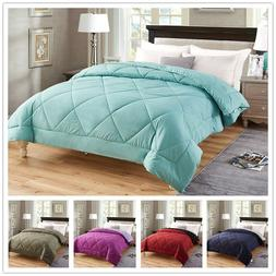 premium down alternative comforter all season reversible