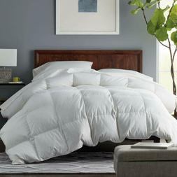 premium down comforter king solid white soft