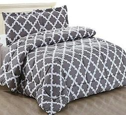 printed comforter queen set with 2 pillow
