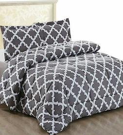 Printed Comforter Set  with 2 Pillow Shams - Luxurious Soft