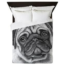 CafePress - Pug - Queen Duvet Cover, Printed Comforter Cover
