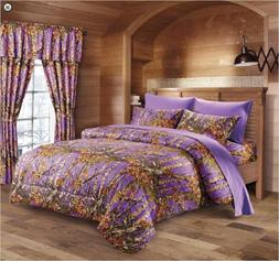 Purple THE WOODS WOODLAND CAMO Full-Queen COMFORTER-FREE SHI