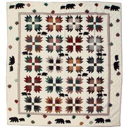 Patch Magic Queen Bear's Paw Quilt, 85-Inch by 95-Inch