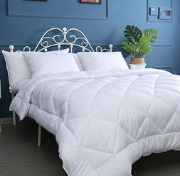 Naluka Queen Size Comforter Duvet Insert Anti-Wrinkle Solid