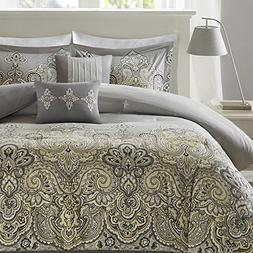 Comfort Spaces Queen Size Comforter Set - Alissa Cotton prin