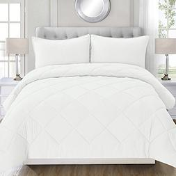 HONEYMOON HOME FASHIONS Queen Full Size Comforter Set, Micro
