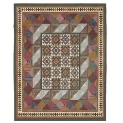Patch Magic Queen Country Roads Quilt, 85-Inch by 95-Inch