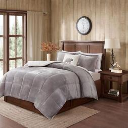 Queen/ Full Size Comforter Set 4 Piece Bed Bedding Faux Fur