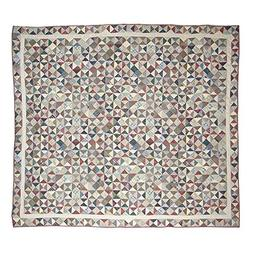 Patch Magic Queen Kaleidoscopee Quilt, 85-Inch by 95-Inch
