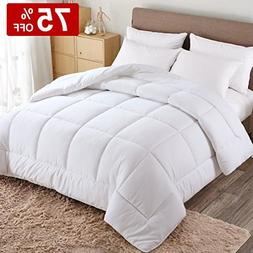 WARM HARBOR Queen All Season White Down Alternative Quilted