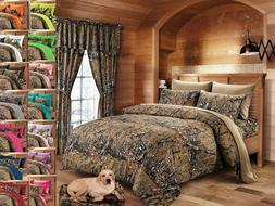 QUEEN SIZE BROWN CAMO 1 PC COMFORTER BED SPREAD ONLY CAMOUFL