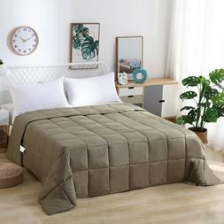 Queen Size Comforter Goose Down Alternative Quilted All Seas
