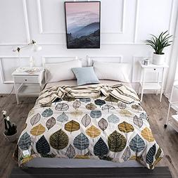 Uther Full/Queen Summer Quilt , Thin Comforter for Summer or
