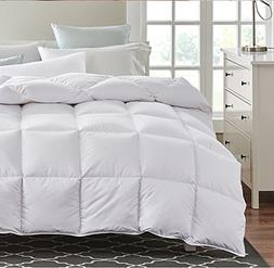 Royal Linen Queen White Duck Down Feather Comforter Hypoalle