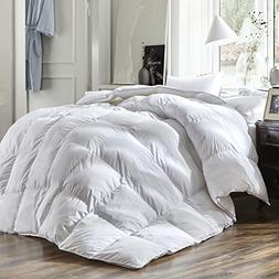 Luxury Queen Size White Goose Down Feather Comforter Duvet I