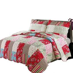 Coast to Coast Living 3-Pc Quilt Sets Luxurious Soft Hypoall