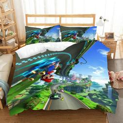 Racing Scene 3D Print Boys Bedding Set 2/3pcs for Home Super