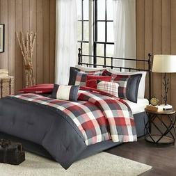 Madison Park Ridge Queen Size Bed Comforter Set Bed in A Bag
