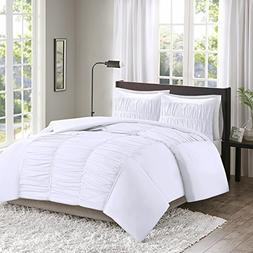 Ruched White Duvet Cover Set - Montana Youth Bedding Sets Qu