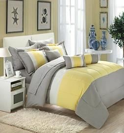 Chic Home Serenity 10 Piece Comforter Complete Bag Stripe Pa