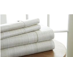 Simply Soft 4 Piece Sheet Set Thatch Patterned, Queen, Ray
