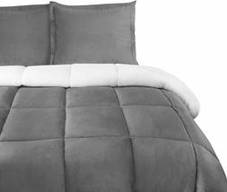 All Season Alternative Fleece Comforter Goose Down Sherpa Co
