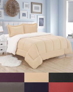 Sherpa Reversible Comforter and Sham Set - Sweet Home Collec