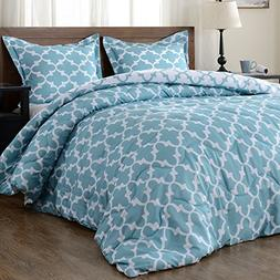 downluxe Lightweight Printed Comforter Set  with 2 Pillow Sh