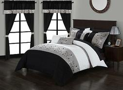 Sonita 20-Piece Bedding Set With Comforter, Sheets & Curtain
