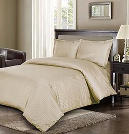 Royal Hotel's Striped Beige 300-Thread-Count 3pc Full / Quee