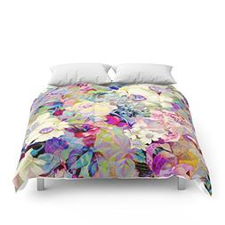 "Society6 Summery Floral Comforters Queen: 88"" x 88"""