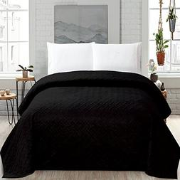 HollyHOME Super Soft Solid Blanket Microplush Full Queen Siz