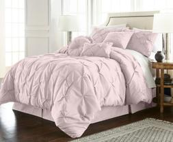 Chezmoi Collection Sydney 7-Piece Soft Pink Pinch Pleated Pi