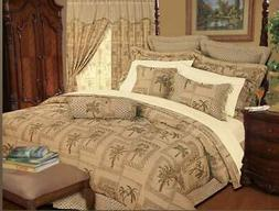 Tapestry Tropical Palm Trees 9P Queen or King Size Comforter