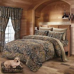 THE WOODS NATURAL QUEEN SIZE 1PC CAMO COMFORTER CAMOUFLAGE B