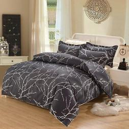 Wake In Cloud - Tree Comforter Set Queen, 3-Piece Branches P