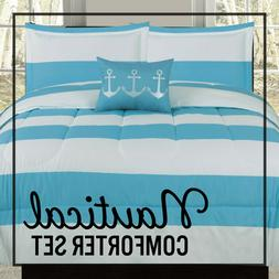 twin full queen or king comforter blue