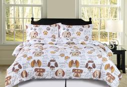 Twin, Full/Queen or King Dog Puppy Themed Pet Lover Comforte
